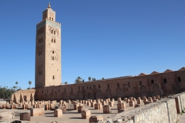 Koutoubia mosque and minaret Marrakesh