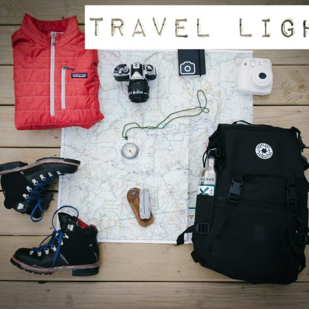 Travel light: tips and hints