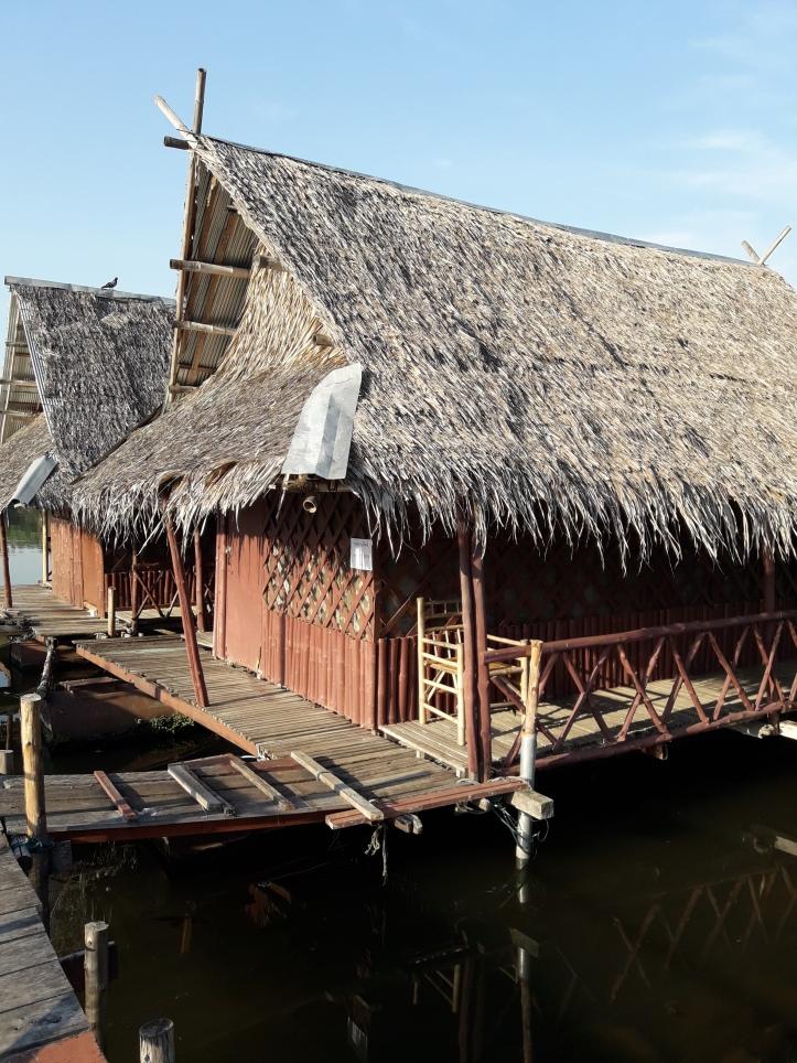 Room on raft, Kanchanaburi Bamboo House, Kanchanaburi