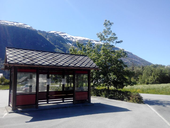 Public transport, Norway, bus stop