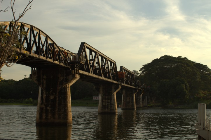 Bridge over the river Kwai, Kanchanabury, Thailand