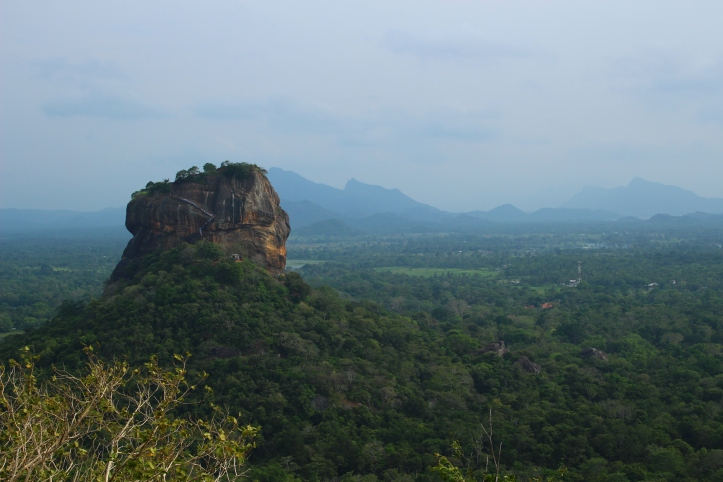 Sigiriya Lion Rock views from Pidurangala Sri Lanka