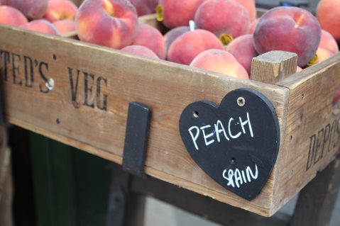 Peach from Spain Borough Market