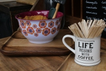 Coffee stalls Borough Market London