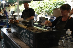 Sausages and burgers stalls @ Borough Market